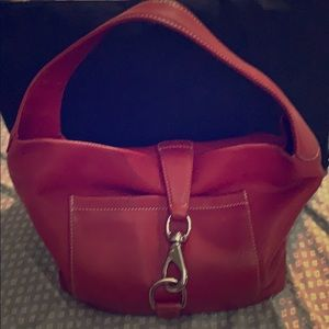 Dooney and Bourke red full leather